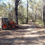 Tractor beside track to Bournda Trig (103348)