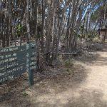 Signpost before toilet Bournda Lagoon (106742)