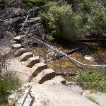 Cliff Top track across Govetts Leap Brook (15718)