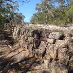 Retaining wall near the top of Devines Hill (163108)