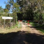 Locked gate on the old Ten Mile Hollow Rd (167399)