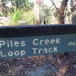 Sign to Piles Creek (177552)
