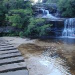 Queen's Cascades and crossing at the top of Wentworth Falls (180879)