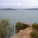 Box Head lookout over Broken Bay to Barrenjoey Headland (21068)