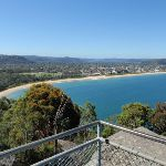 View along Umina Beach from Mt Ettalong Lookout (221219)