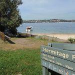 Sign behind Milk Beach (253583)