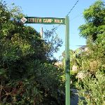 Sign to Curlew Camp (257393)