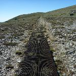 Metal grates on sections of the Main Range Track (267671)