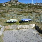 Information signs on the Mt Kosciuszko path (271367)
