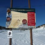 Rock Creek Snowshoe track information sign (299647)