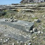 Concrete foundations on Cape Banks in Botany Bay National Park (310193)