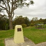 Yellow stone monument near Mt Sugarloaf car park (324062)