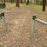 Green metal track markers near Mt Sugarloaf (324482)