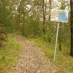 Sign on the green track near Mt Sugarloaf (324644)