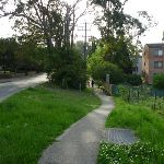 Walking along Dural St footpath (332558)
