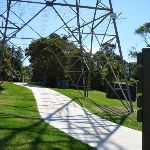 Intersection under the hightension power line tower at Magdala Park (345808)