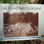 Sign with photo of Fairyland in its heyday (346186)
