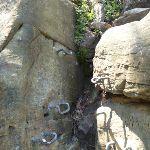 Metal pegs to help climb rock (354899)