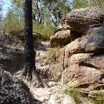 Large rocks dominate the landscape around Joe Crafts Creek (356090)