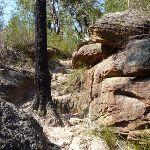 Large rocks dominate the landscape around Joe Crafts Creek (356090)
