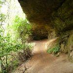 Walking through a long cave (360500)