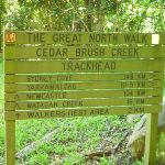 Cedar Brush Creek Trackhead sign (365771)