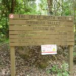 Ourimbah Valley Trackhead sign on the north side of Palm Grove NR (369670)