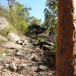 Steep rock track beside Woy WOy Landfill (379502)