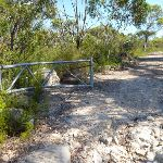 Walking through the gate on the Hawkesbury trail (380258)