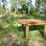 Timber table on the Galgabba Point walk (387152)