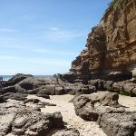 Sandy beach with rocks at Caves Beach Caves (387332)