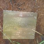 Metal plaque on the monument near the Owens Walkway Wetlands (390848)