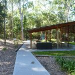 Sheltered picnic table in Carnley Ave Reserve (400102)