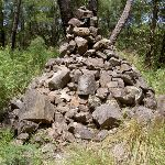 Cairn on Mt Hay summit (40716)