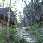Steps between rocks on the Mt Kuring-gai Track (422308)