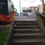 Stairs up to the Pacific Highway and shops (55445)