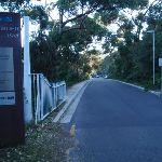 Road through Chowder Bay gates (57347)