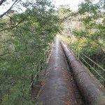 Fenced off pipe bridge (63803)