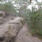 Track up rocky outcrop (63815)
