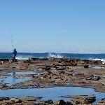 Rock fishing at Merewether (67056)