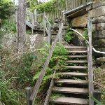 Stairs behind houses near Sirius Cove (69670)