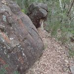 Track below rock outcrop (73662)