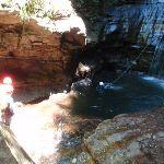 Canyoners in the pool below Empress Falls (94900)