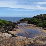 Creek running off sea cliffs (99725)